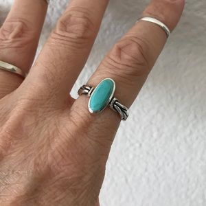 Jewelry - Sterling Silver Turquoise Celtic Knot Ring